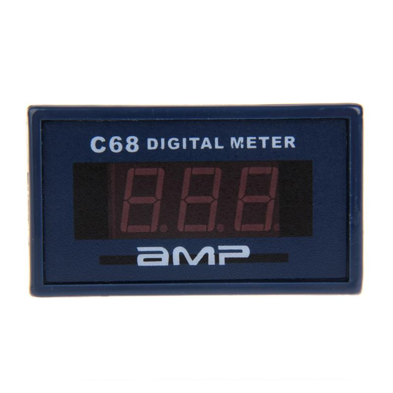 High Quality C68A AC0-10A Ammeter Meter AMP Red LED Digital Display Amperemeter