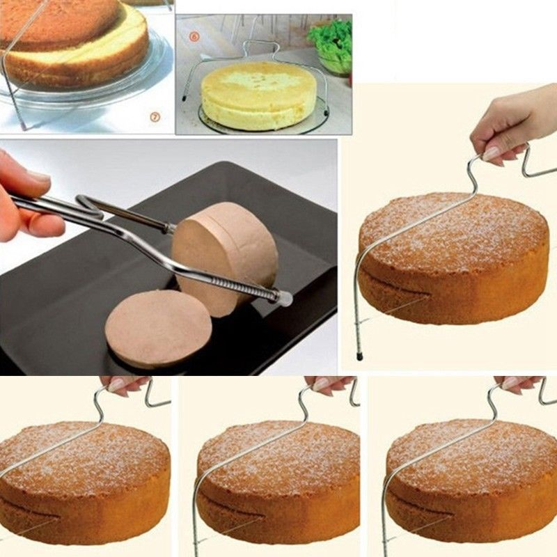 Kitchen Tools Wire Slicer Cake Cutter Bread Cutting Leveller Decorating Divider Slicer Tool Cooking Tool
