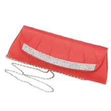 Comercio al por mayor 10 * Red diamond bolsos de paquetes de cena larga ruffle set auger