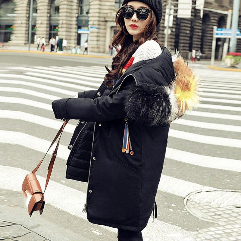 Bas Noir Mode Duvet Nouveau Taille Grand Femelle Vers Manteau Parka De 2018 Long Femmes Le D'hiver Veste Chaud 90 blanc Plus Blanc Canard Fourrures xYOwBWqv