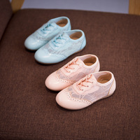 2017 Spring and Summer New Girl Lace Net Breathable Feet Soft Soles Kids Baby Girl Shoes Free Shipping