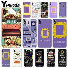 Yinuoda Monica mirilla puerta Marco de amigos TV Show de comedia de la cubierta de la caja del teléfono para el iPhone 8 De Apple 7 6 6S Plus X XS X MAX 5 5S SE XR