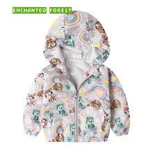 цены Children's jacket spring and autumn new children's clothing boy dinosaur Hooded Outerwear cartoon windproof jacket boy Coats