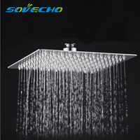 30cm * 30cm Square Stainless Steel Ultra thin Showerheads 12 inch Rainfall Shower Head Rain shower H0171