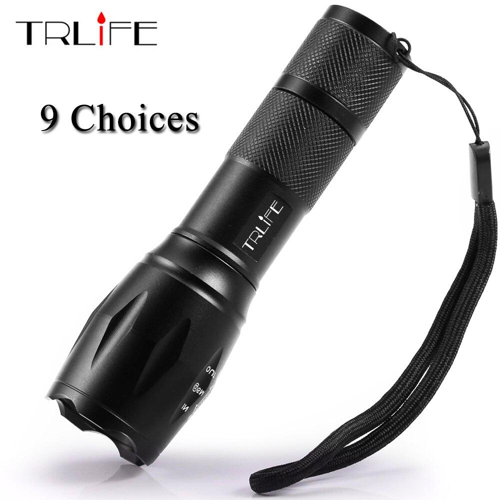 9 Choices LED Flashlight Portable Light COB Lamp Q5 T6 L2 Rechargeable Torch Penlight 18650 14500 Battery Lantern Waterproof