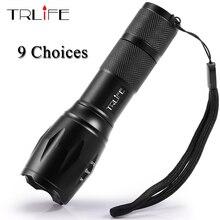 Lampe étanche COB Portable lampe de poche LED, Q5 T6 L2, lampe torche Rechargeable, lanterne avec piles 18650 14500, 9 choix