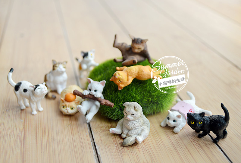 Simulation pvc  figure   animal toy model   cats  ornaments model  toy model gift  10pcs/set  infrared remote control simulation brazil turtle toy animal model