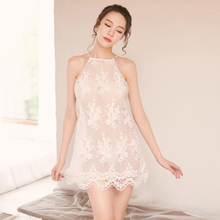 Womens Emotional Lingerie Nightdress Embroidered Mesh Lace Beautiful Sling Temptation Set