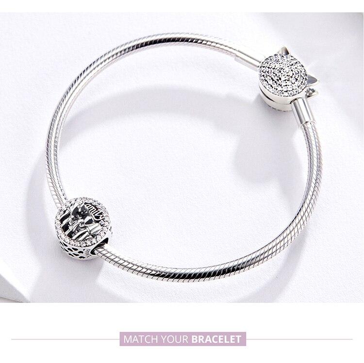 HTB1X8W6UwHqK1RjSZFgq6y7JXXaZ BAMOER Family of Four Round Metal Beads 925 Sterling Silver Families Charm for Women Original Silver Bracelet Bangle SCC1184