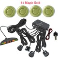 best selling hot Car LED Parking Sensor Kit 4 Sensors monitor Display Reverse Backup Radar buzzer 12V 44 colors selection hot