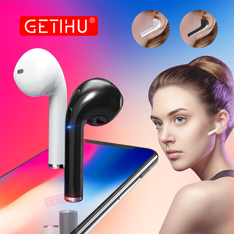 GETIHU Bluetooth Earphone Headphones Phone Sport Headset in Ear Buds Wireless Mini Earphones Headphone Earpiece For iPhone X 7 8 awei wired headset headphone in ear earphone for your ear phone buds iphone samsung earbuds earpiece smartphone player computer