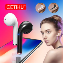 GETIHU Bluetooth Earphone Headphones Phone Sport Headset in Ear Buds Wireless Mini Earphones Headphone Earpiece For iPhone X 7 8(China)