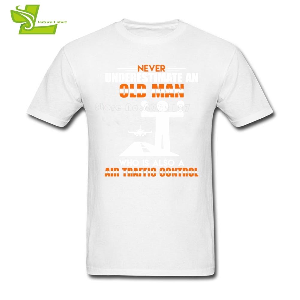 Old Man Air Traffic Control T Shirt Traffic Signs Man Summer Tees Male New Coming Oversize Tshirt Home Wear Teenboys Tee Shirt