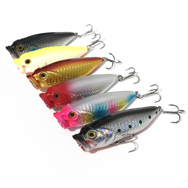 1 Piece Sale Fishing Lure Poper Topwater Big Mouth Popper Artificial Lures Bait 8cm/13.5g