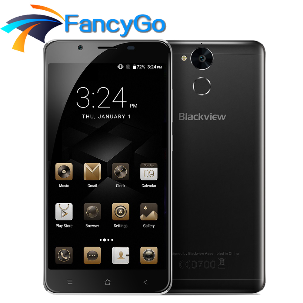 Original Blackview P2 lite 6000mAh Mobile Phone Android 7.0 4G 5.5 FHD MTK6753 Octa Core 3G 32G 13MP+8MP Metal Support 5G Wifi
