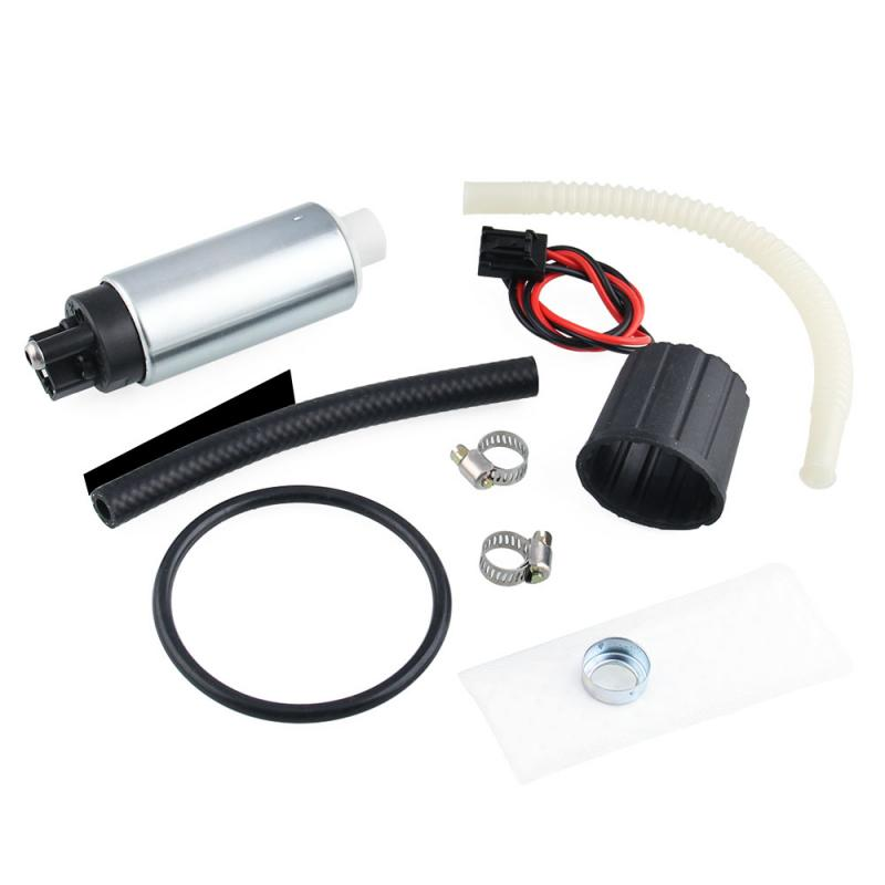 High Pressure Electric Fuel PumpGasoline Pump With Installation Kit Fit for General Vehicle 255LPH