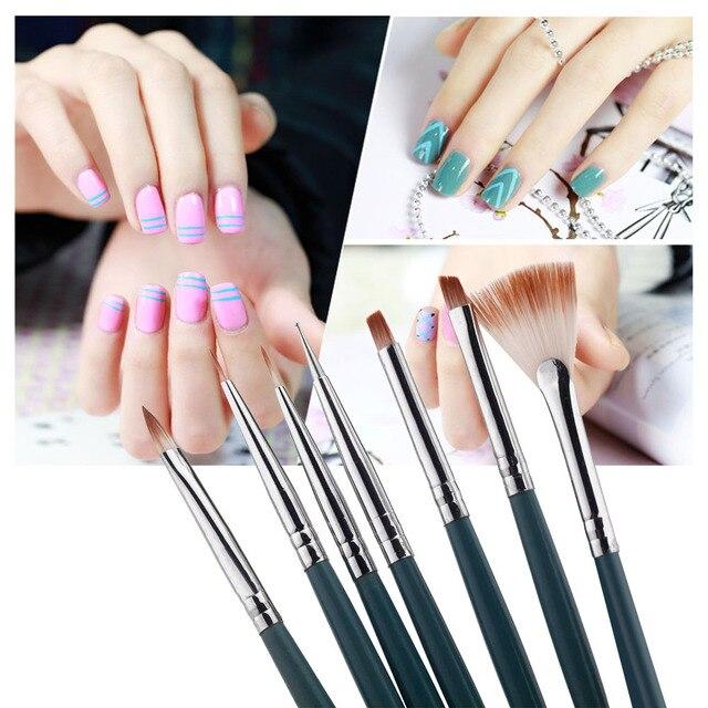 7pcs/Set DIY Nail Art Brushes Professional Nail Art Design Painting ...