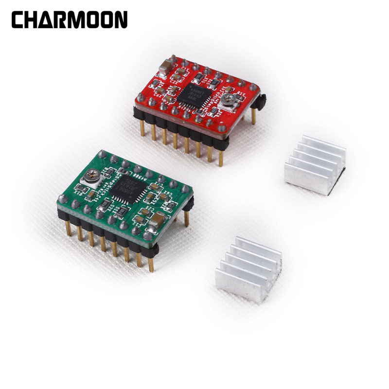 3D Printer Parts Reprap Stepper Driver A4988 Stepper Motor Driver Module With Heatsink For Ramps 1.4