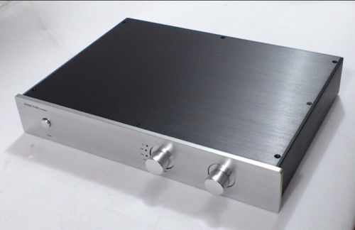 QUEENWAY 4307 CNC full aluminum chassis Case preamplifier amplifier  430mm*70mm*308mm 430*70*308mm