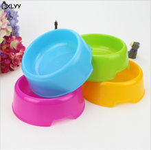 BXLYY 2018 Hot Economy Plastic Pet Candy Color Dog Bowl Round Cat Food Utensils Decoration Accessories.8z