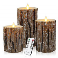3pcs LED candle light Battery Powered Lamp led candles with flickering flame with remote control candle wax led for Wedding Deco