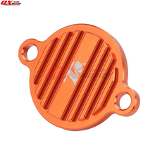 цены CNC Billet Engine Oil Filter Cover Cap For KTM 250 350 450 505 SXF 450SMR 350 EXCF 200 450 530 EXC 350 SX SXF EXC EXF SMR