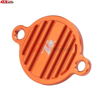CNC Billet filtr oleju silnikowego pokrywa Cap dla KTM 250 350 450 505 SXF 450SMR 350 EXCF 200 450 530 EXC 350 SX SXF EXC EXF SMR tanie i dobre opinie qxmotorracing CN (pochodzenie) 1inch 250 350 450 400 500 530 Aluminum Alloy Kickstarters i części 4 CYLINDRY Iso9000 KTM Engine Oil Filter Cover Cap