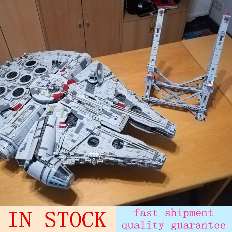 Star Series Millennium Falcon 05132 Wars With Display Stand Ultimate Collector s 75192 Model Birthday Gifts