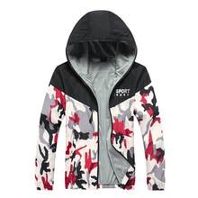 Весна и осень Новый Женская куртка с капюшоном Повседневная модная женская тонкая ветровка молния пальто камуфляж