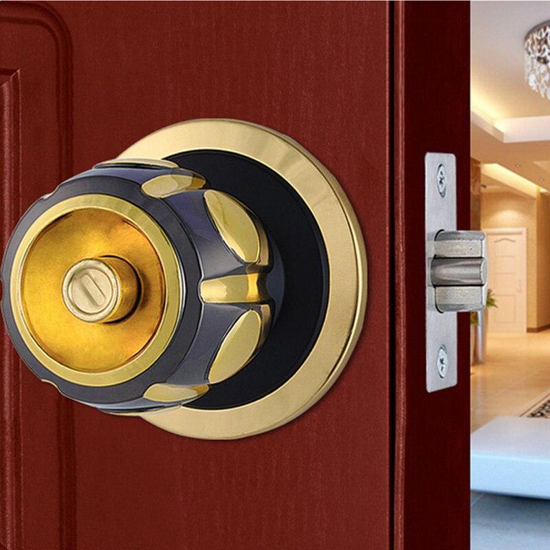 Thicker High Grade Stainless Steel Interior Privacy Door Knob Handle Locks Set In Locks From