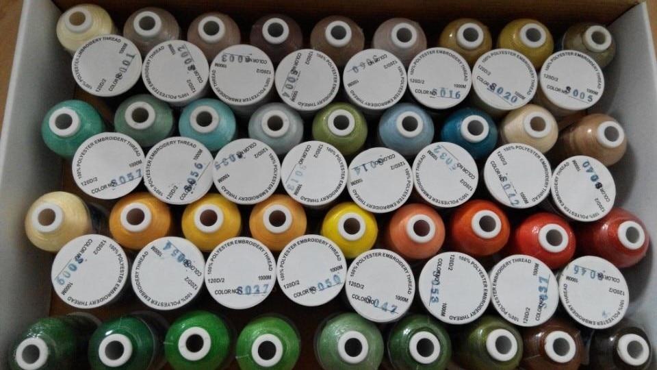 Popularni Simthread 120 boja Poliester Vez strojeva nit 1100 Yards - Umjetnost, obrt i šivanje - Foto 5