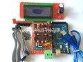 1 pcs Mega 2560 R3 + 1 pcs cabo usb + 1 pcs RAMPAS 1.4 Controlador + 2004 painel de controle LCD para Impressora 3D arduino kit