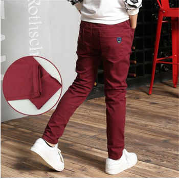 boy child casual pants autumn and winter child trousers plus velvet 2017 children\'s clothing autumn thickening big boy trousers