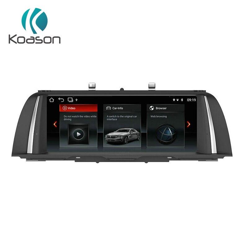 Koason PX6 Android 8.1 système 10.25 pouces IPS LCD voiture stéréo lecteur multimédia Audio GPS Navigation pour BMW série 5 F10 F11 NBT