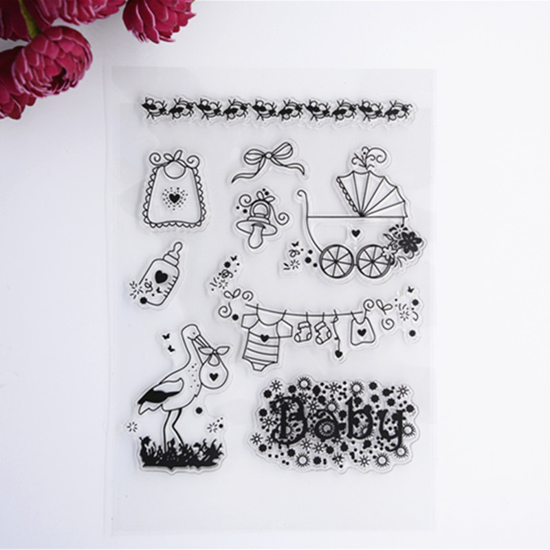 2016 New Scrapbook DIY Photo Album Cards Transparent Acrylic Silicone Rubber Clear Stamps baby wyf1017 scrapbook diy photo album cards transparent silicone rubber clear stamp 11x16cm camera
