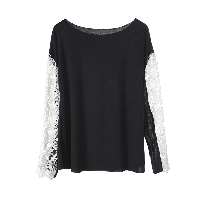 Women's Clothing Considerate 4solid Colors Lace Crochet Women Blouses Casual Round Neck Long Sleeve Blouse Shirt Patchwrok Top Tunic Blusas To Assure Years Of Trouble-Free Service