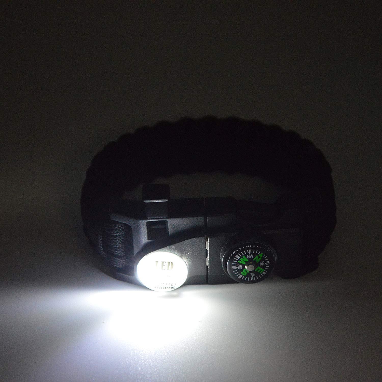 pulseira relógio para homens mulher acampamento caminhadas engrenagem de emergência