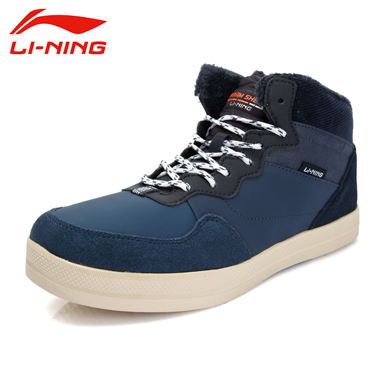 LI-NING 2015 Brand New Arrival Lifestyle Series Thermal Men's Shoe Mid-Top Skateboarding Shoes Sneakers For Male ALAK079 XMR1148 li ning new arrival skateboard boot height increasing winter high top sport shoes sneakers walking shoes men alak049 xmr1159