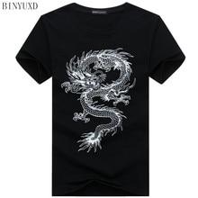 binyuxd New dragon Pure cotton Short Sleeves Hip hop Fashion