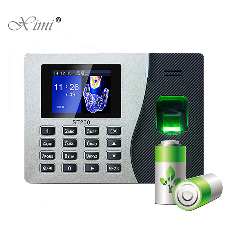 ZK ST200 Biometric Fingerprint Time Attendance System With Backup Battery USB Fingerprint Reader Time Clock Employee Machine