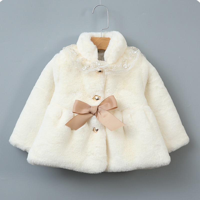 Baby girl Thick Coat 2018 Winter Clothes For Infant Girls Faux Fur Fleece Hooded Newborn Baby Jacket Casaco Infantil Outerwear sherpa fleece faux suede coat