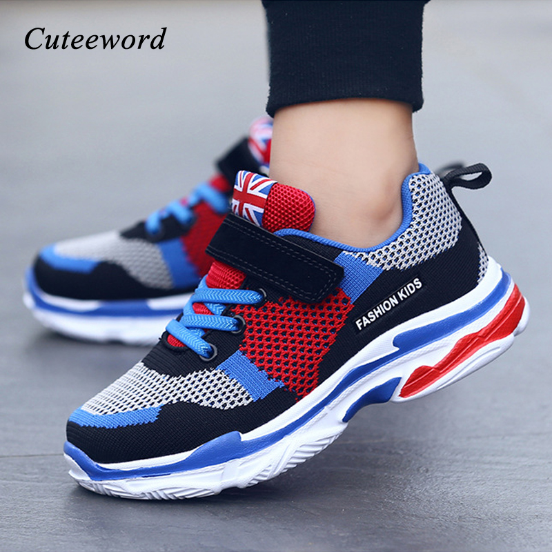 Boys shoes mesh sneakers children casual shoes for girls school running sports shoes 2019 fashion brand breathable kids sneakers