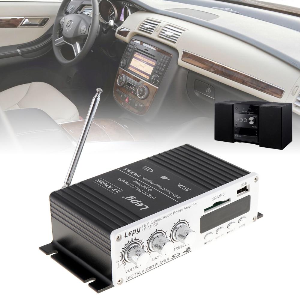 Mini Auto Car Power Amplifier Digital Player Audio