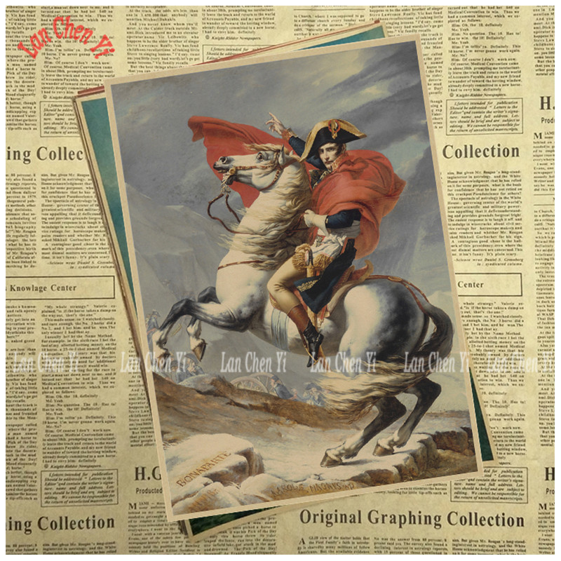 Classic Vintage Nostalgic Kraft Paper Poster Napoleon Office Gift Room Dining Home Decor wall sticker Design