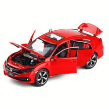 1:32 Honda Civic Car  Zinc Alloy Toy Car Metal Diecast Vehicle Sound Light Cars Collection Model Children's Gifts Toys For Boys
