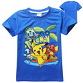 cute kids causal t-shirt cartoon Pokemon Go pikachu cotton Summer tops t-shirt for 3-10yrs children boys girls shirt clothes hot