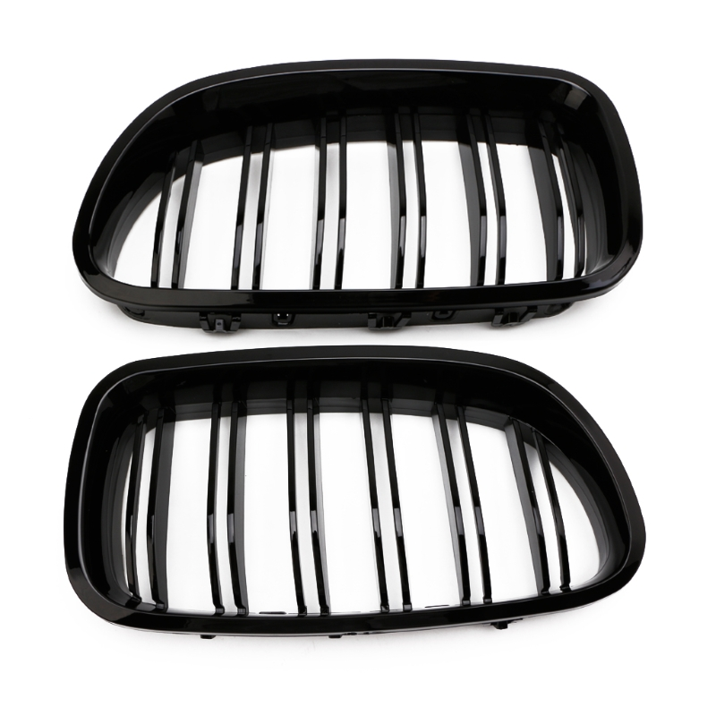 Gloss Black Kidney Grill Racing Grille Dual Line For BMW F10 F11 F18 5 Series M5 Gloss Black Kidney Grill Racing Grille Dual Line For BMW F10 F11 F18 5 Series M5