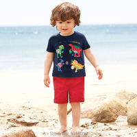 New 2016 Summer 100 Cotton Brand Baby Boys Clothing Toddler 2pcs Children Suit Baby Kids Clothes