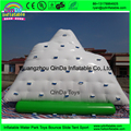 2016 Cheap Giant Ourdoor Inflatable Water game floating Iceberg with slide for adult