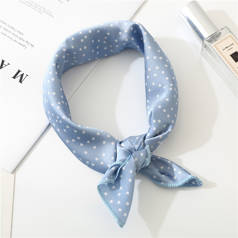 2019 New Women Scarf 50*50cm Spring Autumn Dot Point Small Square Scarves Female Headband Wrist Wrap Square Head Scarves